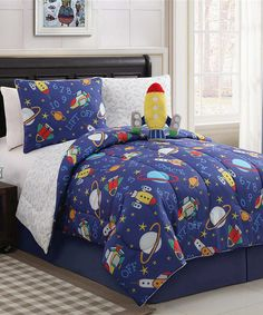 Take a look at this Out of This World Reversible Comforter Set by Victoria Classics on #zulily today!