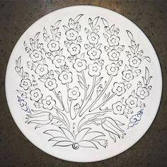 çini boyama desenleri 18 cm tabak ile ilgili görsel sonucu