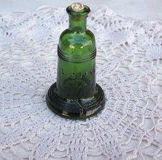Vintage Miniature Green Liberty Bell Bitters Bottle
