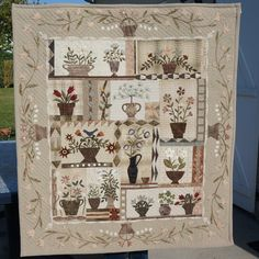 Mon quilt floral est terminé et quilté ( d'après un modèle de Yoko Saito)Patricia DESMONS