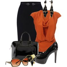 A fashion look from December 2012 featuring Vivienne Westwood blouses, Oasis skirts and Jessica Simpson pumps. Browse and shop related looks.