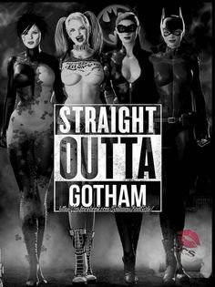 Harley Quinn,Poison Ivy,Catwoman,and Batgirl