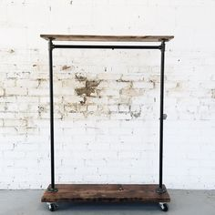 Rustic Industrial Reclaimed Wood Rolling by TylerKingstonWoodCo