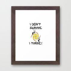#Thrive Framed Art #Print