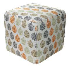 Divine Designs Pooja Cotton Pouf Ottoman