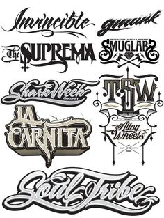 Creative Typography, Lettering, Type, Treatments, and - image ideas & inspiration on Designspiration Tattoo Lettering Styles, Cool Lettering, Types Of Lettering, Graffiti Lettering, Typography Letters, Typography Logo, Lettering Design, Fonts For Tattoos, Typography Inspiration