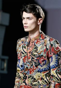 Dries Van Noten - amazing prints for men!