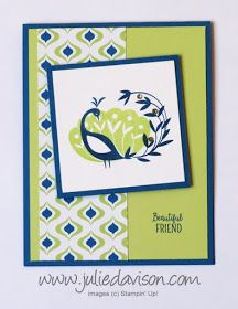 Stampin' Up! Sale-a-Bration 2018 Beautiful Peacock ~ created by Julie Davison, www.juliedavison.com