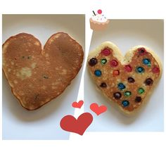This heart-shaped M&M pancake was the perfect thing to start a Sunday... Good Morning! by helsa369