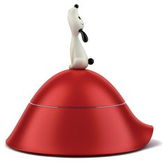 desiary.de - LULA Hundenapf rot von Alessi/  Dog food or water bowl from Alessi