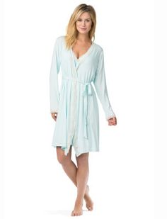 Maternity Dress for Women Maternity Fulltime Solid Color Nursing Nightgown Nightdress Hospital Gown Delivery Labor Pregnancy Soft Breastfeeding Dress TM