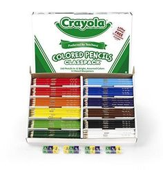 Crayola 240 Ct Colored Pencil Classpack 12 Assorted Colors (68-8024)