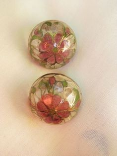 Plique-A-Jour-stained-glass-dome-post-Earrings-floral