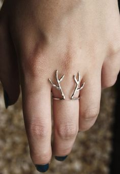 Sterling Silver Antler Ring | Babble