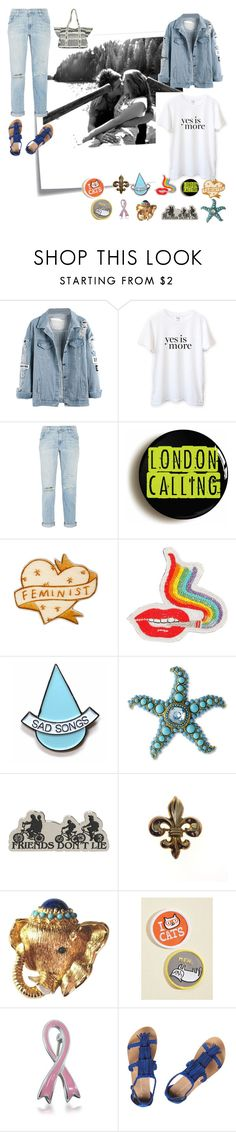 """A Long Time Ago"" by christined1960 ❤ liked on Polyvore featuring Post-It, Sincerely, Jules, Current/Elliott, Olympia Le-Tan, Stay Home Club, Kenneth Jay Lane, Bling Jewelry, Dorothy Perkins, Billabong and pins"