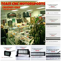 """Very Popular with 4x4 Offering all sizes with light bar, wire harness & legit lifetime warranty """"PACKAGE DEAL""""  for any questions feel free to contact Team CNC Motorsports @ (909)481-4262 10am-7pm"""