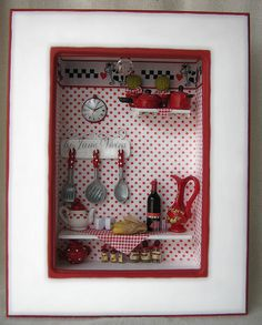 kitchen shadowbox cute idea for someone who likes to cook or owns a bakery or something like that