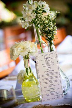 Centro de mesa - casamento romântico