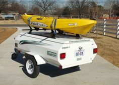 kayak trailer | Kayak trailer and canoe trailer options: We provide roof rack rails ...