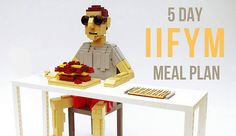 Free 5 day IIFYM Meal Plan including 3 meals and 2 snacks a day.  #iifym  #flexibledieting