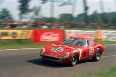 North American Racing Team's Ferrari 250 GTO goes through the Esses during the 1964 Le Mans.