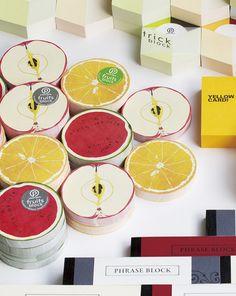 Retail product, fruits block  Illustration, Product Design  Behance.net  2012/ CL: YKP (Yamakoshi + Kapo Project)/ D: Ryosuke Harashima/ I: Ko. Machiyama  paperable web: http://paperable.jp