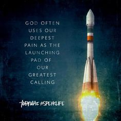 God often uses our deepest pain as a launching pad of our greatest calling. Bible Verses Quotes, Faith Quotes, Wisdom Quotes, Gospel Quotes, Devotional Quotes, Trauma, Tobymac Speak Life, Toby Mac, Encouragement