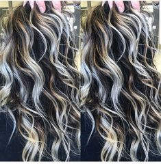 77 interesting curly hair photos is part of Hair - 77 interesting curly hair photos Jessica Smith, Gray Hair Highlights, Pinterest Hair, New Hair Colors, Balayage Hair, Haircolor, Gorgeous Hair, Pretty Hairstyles, Hair Trends