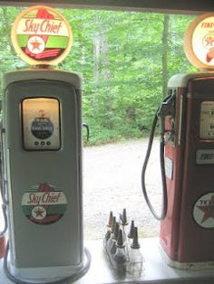 Seems about perfect! ... The woods and #gas #pumps