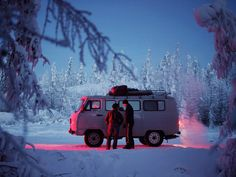 """softwaring:An Uazik van in the tundra outside of Oymyakon. The soviet-era vans are widely favored in Siberia for their ability to stand up to the cold, and they are known as """"loaves"""" for their distinctive shape. Whatever Forever, School Portraits, Winter Snow, Van Life, Arctic, The Outsiders, Urban, Adventure, Apocalypse"""