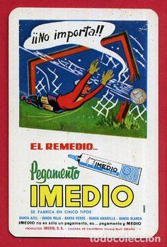 CALENDARIO FOURNIER , PUBLICIDAD PEGAMENTO IMEDIO , 1975 , ORIGINAL , CAL9227