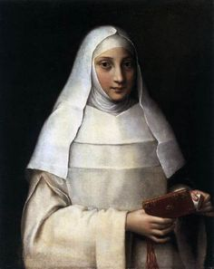 'The Artist's Sister Elena Anguissola as a Nun' (1551) by Italian painter Sofonisba Anguissola (1532-1625). via it's about time