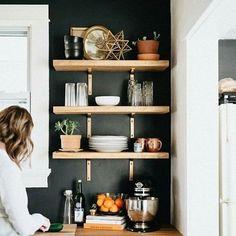parede-preta-decoração-cozinha