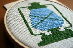 Vintage Camping Lantern Cross Stitch Pattern -Light the Way (PDF). $5.00, via Etsy.