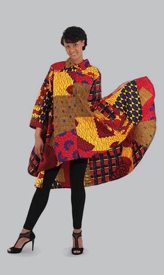 African Print Hi-Lo Shirt. sold by Lester's African Bargains. Shop more products from Lester's African Bargains on Storenvy, the home of independent small businesses all over the world. African Fashion Designers, African Print Fashion, Africa Fashion, African Prints, Afro, Mens Fashion, Fashion Outfits, Fashion Tips, Fashion Ideas