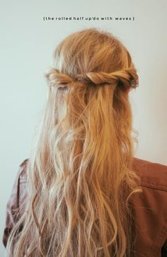 Hair Tutorial: The Rolled Half Up'Do With Waves