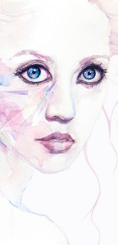 Detal from 'Allison' by Agnes Cecile - Prints available in a variety of formats at Eyes On Walls - http://www.eyesonwalls.com/collections/vendors?q=Agnes%20Cecile