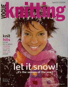 VOGUE KNITTING Winter 2003 Sweaters Scarf Poncho Cape Oscar de la Renta VTNS #VogueKnittingInternational