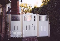 wood double garden gate #7-6 in Santa Monica, CA