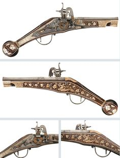 A very lovely 16th or 17th century wheel-lock pistol with scrimshaw decorated ivory stock inlays.