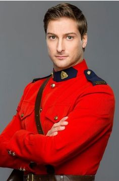 """Daniel Lissing as Constable """"Mountie"""" Jack Thornton in When Calls the Heart.  LOVE a man in uniform!!!"""
