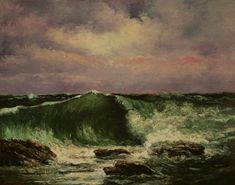 COURBET, Gustave : Waves   (1870)   oil on canvas   72.5 x 92.5    The National Museum of Western Art, Tokyo