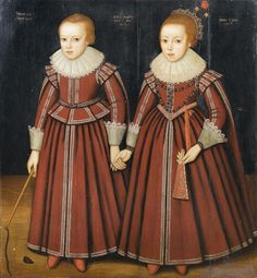 Anglo Dutch School 1622 Portrait of two children full-length both in red costume.the boy with a whip and top the girl holding a fan inscribed and dated 'Natus./ Pict/ Jan/ (upper centre) and 'Nata. Jan:/ (upper right) Most Beautiful Child, Beautiful Children, Red Costume, Costumes, 17th Century Fashion, Old Portraits, Kids Fashion Photography, Second Child, Historical Clothing