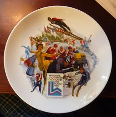 Official Limited Edition 1980 WINTER Olympics Collectible Plate from The Ghent Collection via Etsy