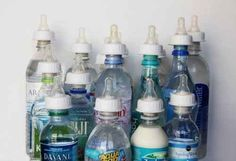 Turn any water bottle into a baby bottle. Refresh-a-Baby | 35 Genius Parenting Inventions