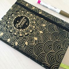 Our this week is - We love how she customized the front cover of her with a gold sharpie! Passion Planner, Life Planner, Planner Diy, Planner Ideas, Notebook Cover Design, Diary Cover Design, Cool Notebooks, Journals, Front Cover Designs