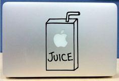 Macbook Apple juice box funny car truck by EpicDesignsDecor