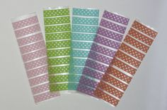 washi tape stickers. accessories made to fit erin condren life planner eclp