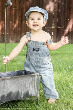My baby boy in his cute oshgosh overalls just as happy as can be. :) photos, photo shoot, pictures, photography