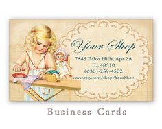 Printable business cards for Etsy shop  Digital by FrezeArt, $3.00